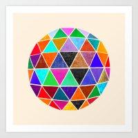 Geodesic 3 Art Print