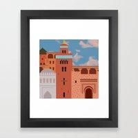 Moroccan Arch Framed Art Print