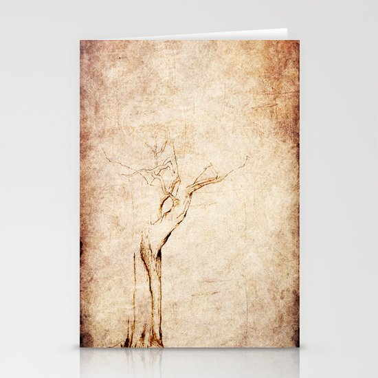 Drawn Tree iPhone Case Stationery Card