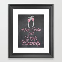 Keep Calm and Drink Bubbly (champagne flutes) Framed Art Print
