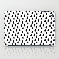 Black and white triangles pattern - classy college student collection iPad Case