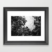 EARLY MORNING, A MESSAGE… Framed Art Print