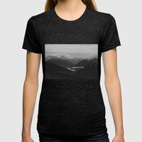 Mountain Landscape Black… Womens Fitted Tee Tri-Black SMALL