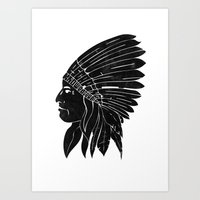 Chief / Black Edition Art Print