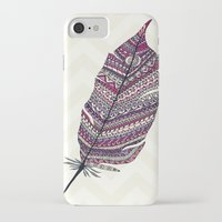 feather iPhone & iPod Cases featuring FEATHER by Monika Strigel