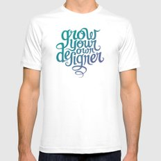 Grow Your Own Designer SMALL White Mens Fitted Tee