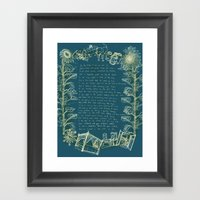 Love Poem Framed Art Print