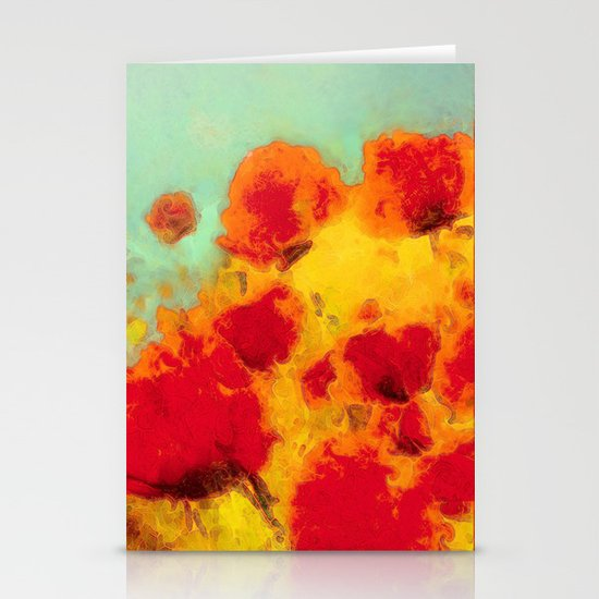 FLOWERS - Poppy time Stationery Card