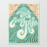 Joy Ride, Every Ride Canvas Print