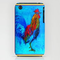 iPhone & iPod Case featuring Colorful Rooster Paintin… by SharlesArt