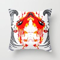 On Fire. Throw Pillow