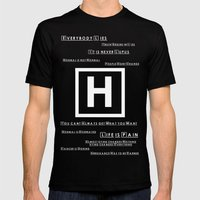 What I Learned With House 02 Mens Fitted Tee Black SMALL