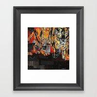 Tiger At Night Framed Art Print