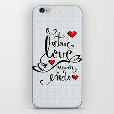 Valentine Love Calligraphy and Hearts iPhone & iPod Skin