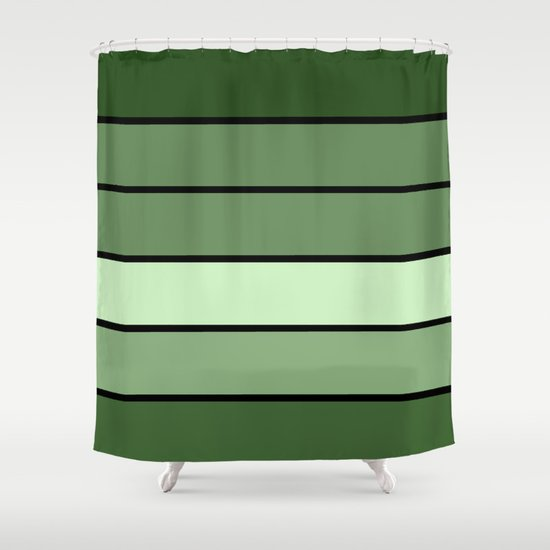 Green Stripes Shower Curtain By 2sweet4words Designs Society6