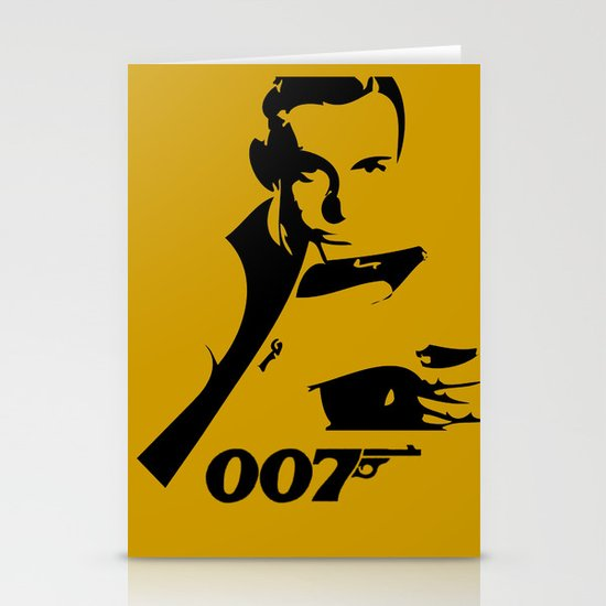 007 James Bond Stationery Card