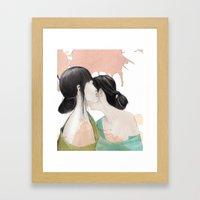 Tell Me A Secret Framed Art Print