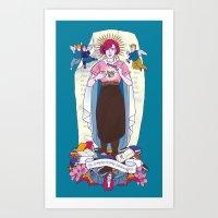 Virgen de Shermer Art Print