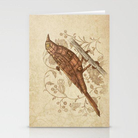 Steampunk Songbird  Stationery Card