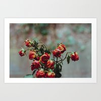 Windowsill Roses No. 1 Art Print