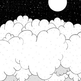 Art Print - The moon and the clouds -  Steve Wade ( Swade)