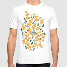 Birdie Bird White SMALL Mens Fitted Tee