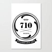 Canvas Print featuring the 710  by GGDUB