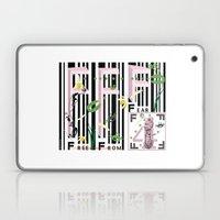 Four Freedoms Barcode Black Laptop & iPad Skin