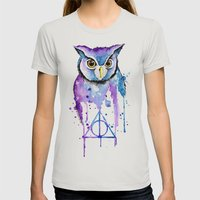 Hedwig Womens Fitted Tee Silver SMALL
