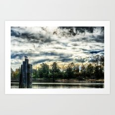 The Slough HDR Art Print