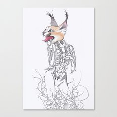 Half Man Half Caracal Canvas Print