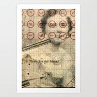 The Authoress Art Print