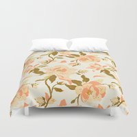 Magnolia Pattern Duvet Cover