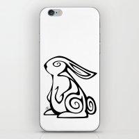 Rabbit Swirls iPhone & iPod Skin