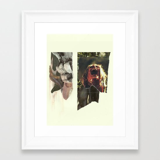 24 Bullets Vs 24 Wolves Framed Art Print