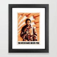The Resistance Needs You Framed Art Print