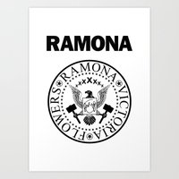 Ramona - White Art Print