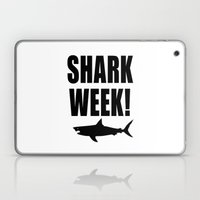Shark week (on white) Laptop & iPad Skin