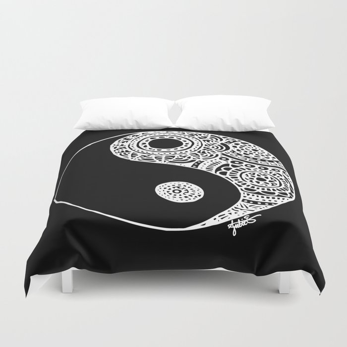 black and white yin yang duvet cover decor