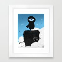 Black Chicken Framed Art Print