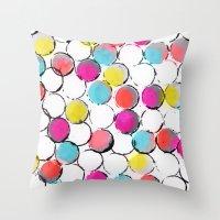 Circle Painting  Throw Pillow