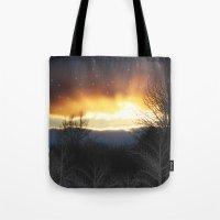 Winter Sun Rays Tote Bag