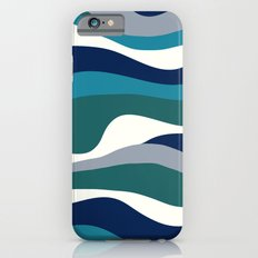 Cordillera Stripe: Teal Navy Combo Slim Case iPhone 6s