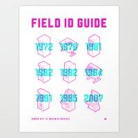 ARCADE FIELD ID GUIDE - … Art Print