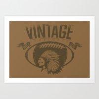 Vintage Sports Art Print