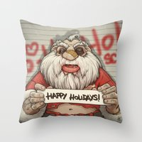 Busted Xmas Throw Pillow