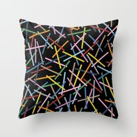 Kerplunk Black Throw Pillow
