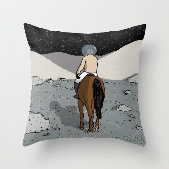 Moonrider Throw Pillow