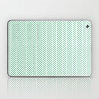 Herringbone Mint Inverse Laptop & iPad Skin