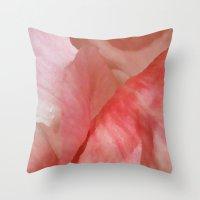 Waves of Pink - Peonies Throw Pillow